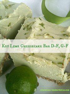 Key Lime Pie Cheesecake Bars, Raw, Dairy-Free, Gluten-Free