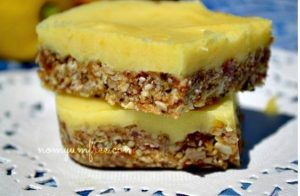 Raw Nut Free Lemon Bars