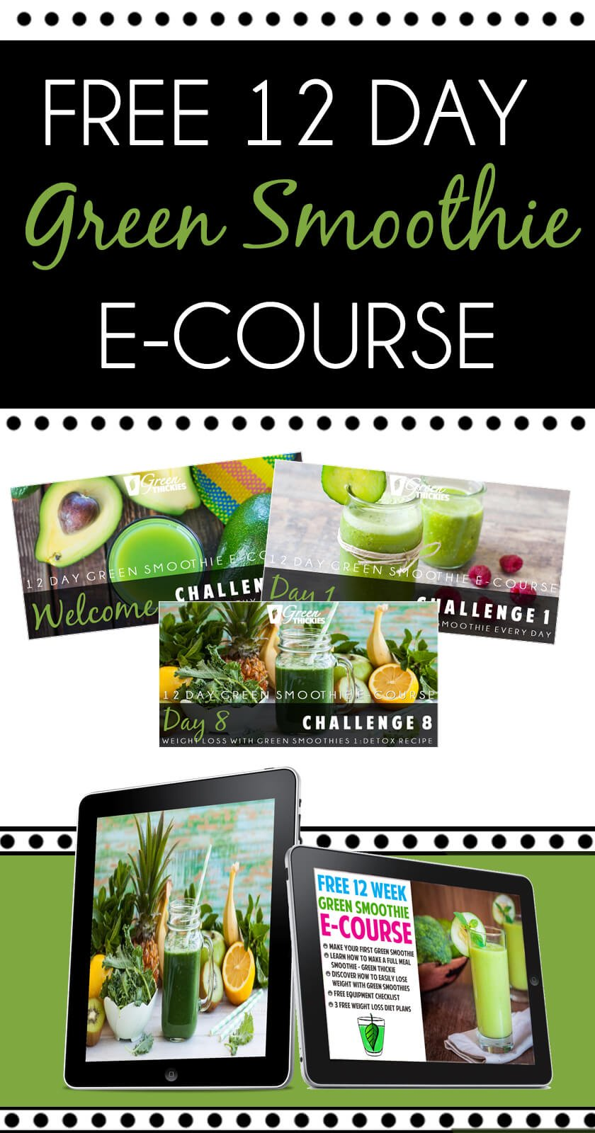 Free 12 Day Green Smoothie E Course Green Thickies