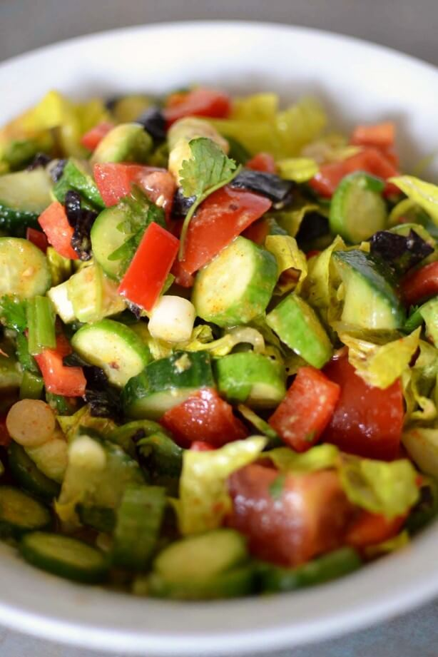 Alorah's Mediterranean Avocado Salad from Raw Garden Recipe Book.