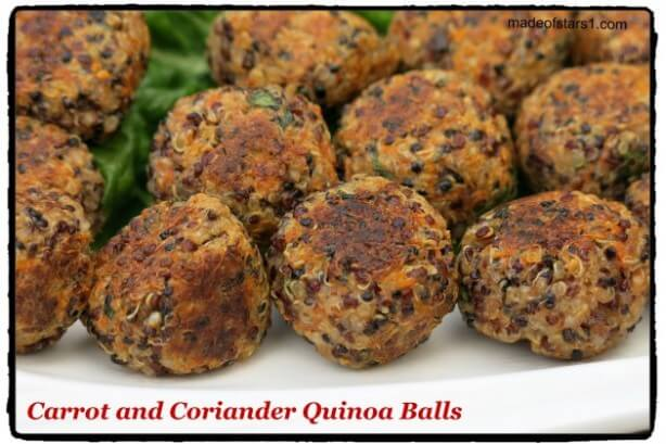 Carrot and Coriander Quinoa Balls