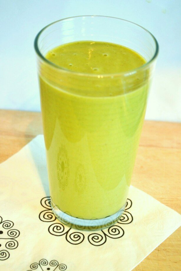 Cantaloupe and banana green thickie smoothie