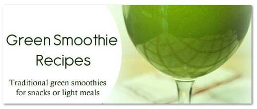 Green Smoothies Recipe Button Shadow