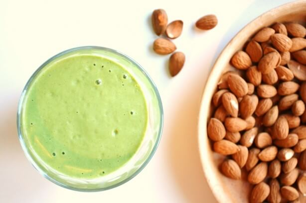 Almond Milk Smoothie green thickie