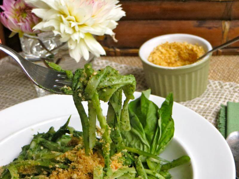 Iron Packed Pesto and Parma-nut Cheese