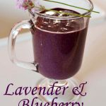 Lavender and Blueberry Smoothie Green Thickie