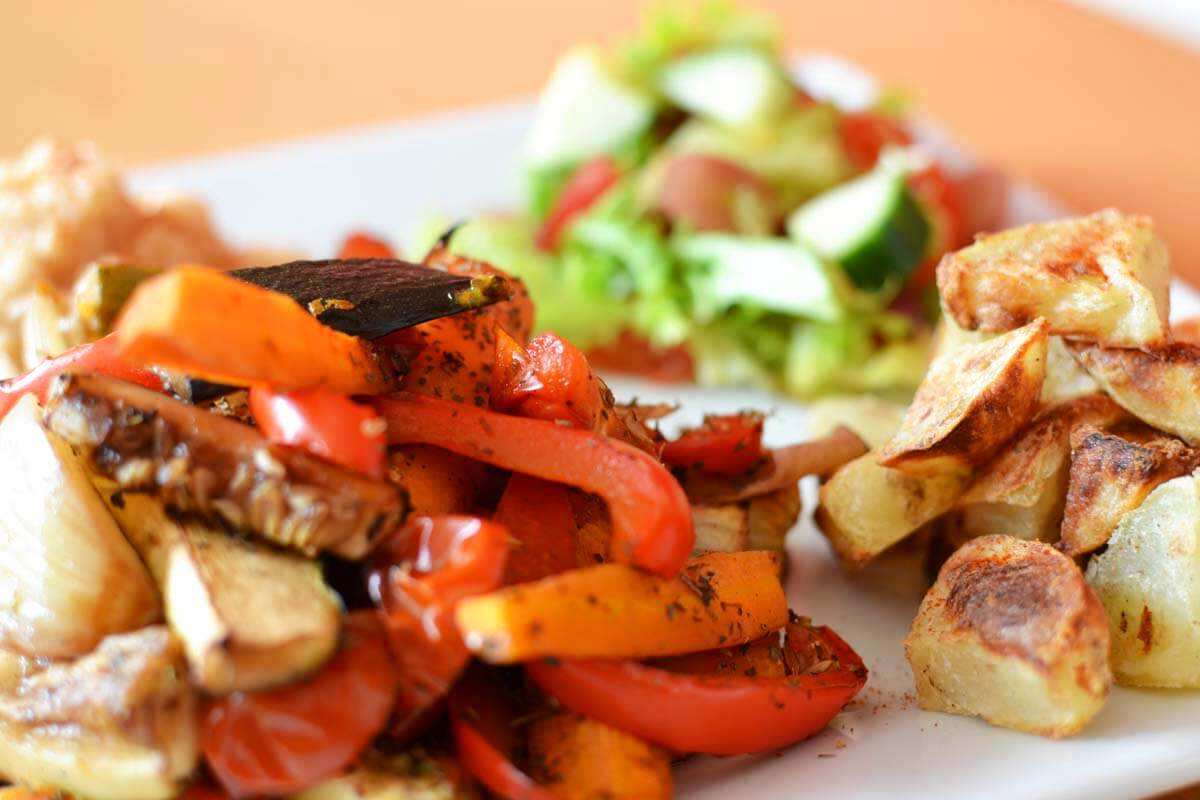 Roasted Potatoes and Veg