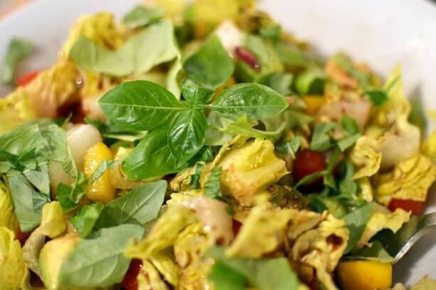 Tomato and Avocado Salad from Raw Garden Recipe book