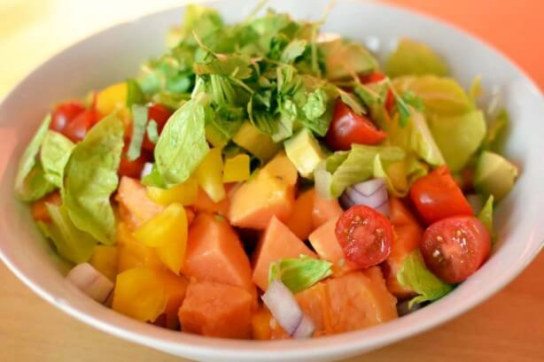 Tropical Salad from Raw Garden Recipe Book