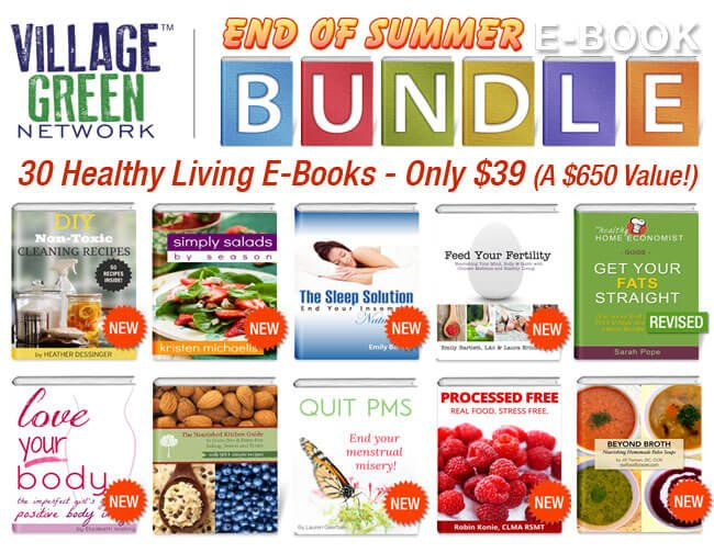 30 Healthy Living E-Books End of Summer bundle for just $30