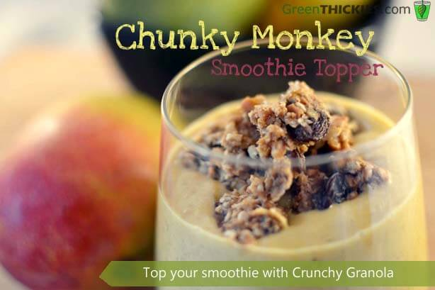 Chunky Monkey Smoothie Topper in a Glass