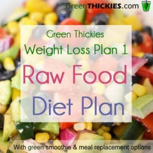 Green Thickies Weight Loss Plan Raw Food Diet Plan Option 1