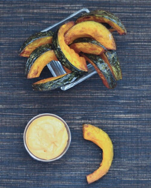 kabocha fries with buffalo celery ranch