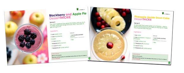 Take a sneak peak inside the dessert thickies book