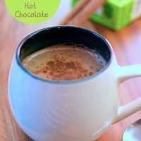 1 Minute Blender Mint & Choc Vegan Hot Chocolate
