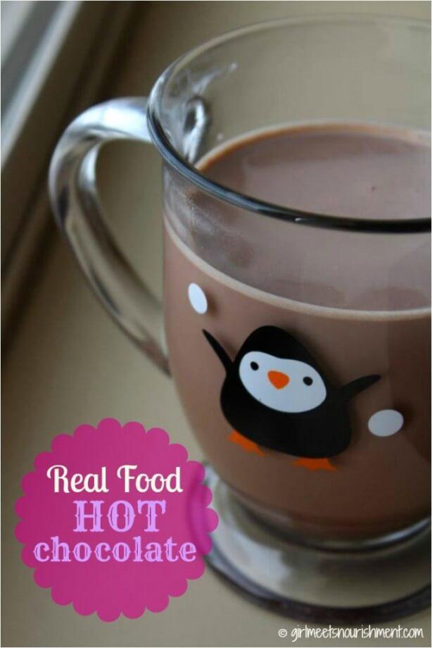 Homemade Real Food Hot Chocolate