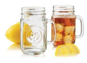 4-Piece Drinking Jar with Handle