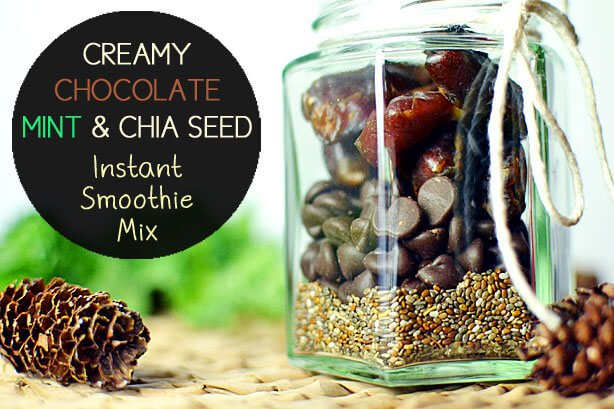 Creamy Chocolate Mint and Chia Seed Instant Smoothie Mix