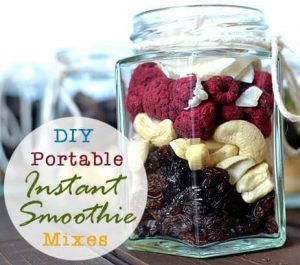 DIY Portable Instant Smoothie Mixes