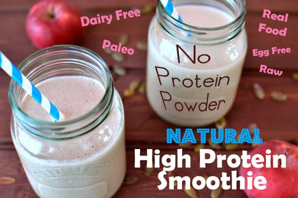 How to make a Natural Protein Shake without Protein Powder (Dairy Free, Paleo, Vegan, Raw)