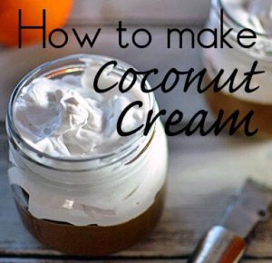 How to make coconut cream
