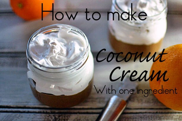How to make coconut cream with one ingredient