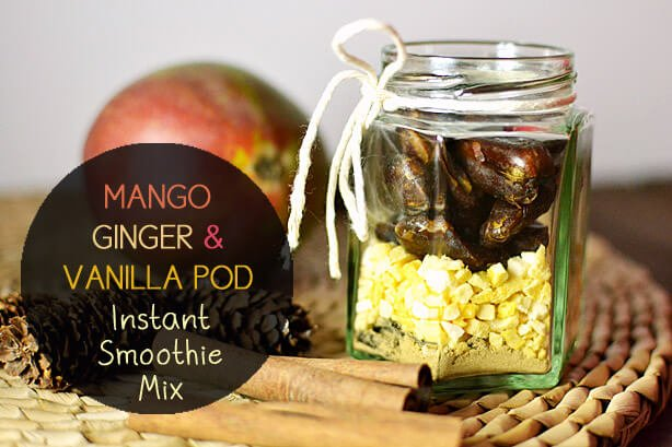 Mango Ginger and Vanilla Pod Instant Smoothie Mixes