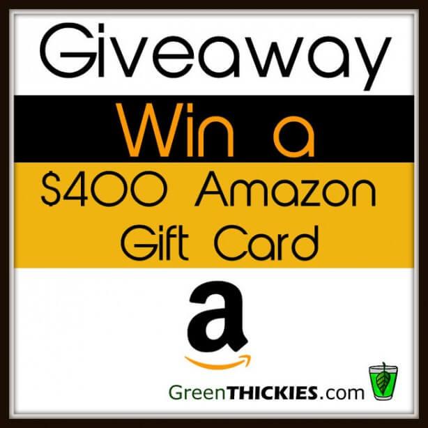 November Giveaway 400 Amazon Gift Card at Green Thickies
