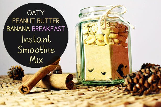 Oaty Peanut Butter Banana and Cinammon Breakfast Smoothie
