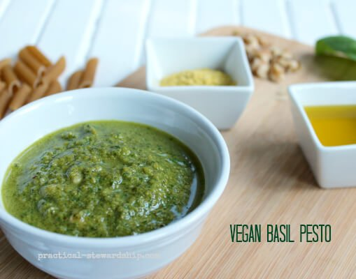 Poor Man's Vegan Basil Pesto