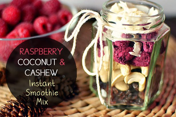 Raspberry Coconut and Cashew Instant Smoothie Mix