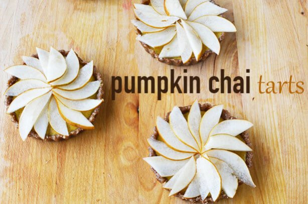 Raw Pumpkin-Chai Tarts