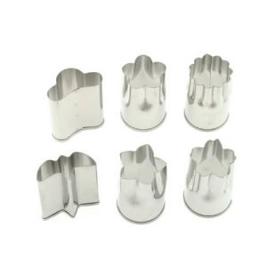 Set of 6 Small Stainless Vegetable Cutters