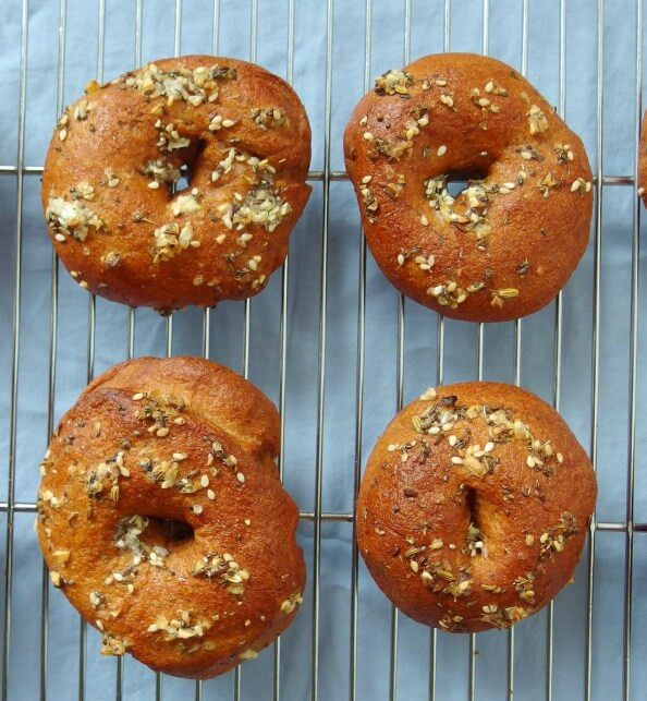 Whole Grain Everything Pizza Bagels