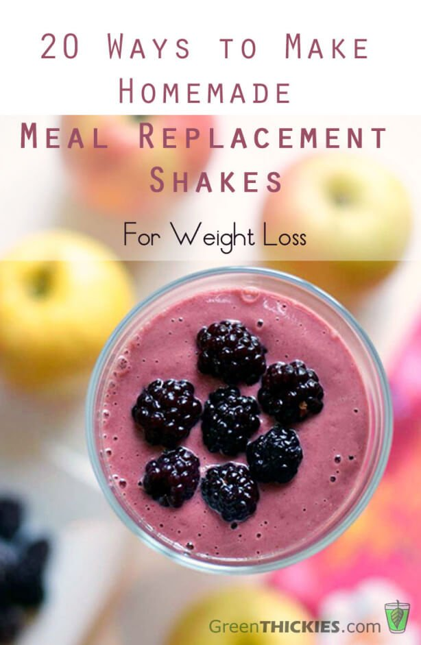20 Ways to Make Homemade Meal Replacement Shakes For Weight Loss