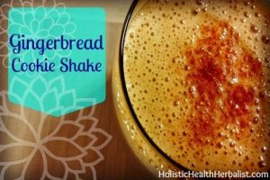Gingerbread Cookie Shake - 35 Healthy Holiday Drinks by Green Thickies