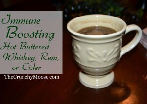 Immune Boosting Hot Buttered Whisky Rum or Cider - 35 Healthy Holiday Drinks by Green Thickies