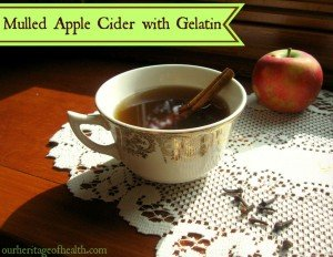 Mulled Apple Cider with Gelatin
