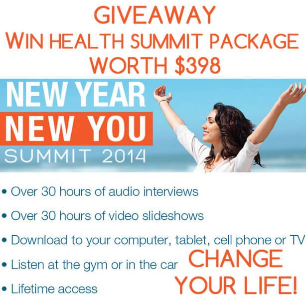 Giveaway - Win A Health Summit Package Worth 398 Dollars - Change Your Life Today
