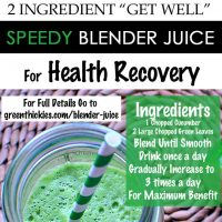 "2 Ingredient ""Get Well"" Speedy Blender Juice For Health Recovery"
