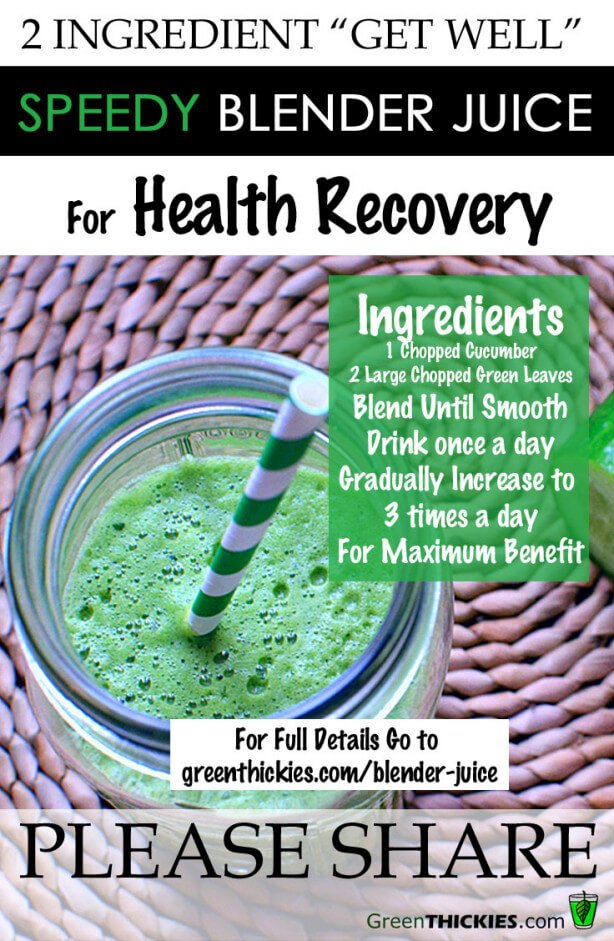 "2 Ingredient ""Get Well"" Speedy Blender Juice For Fast Health Recovery"