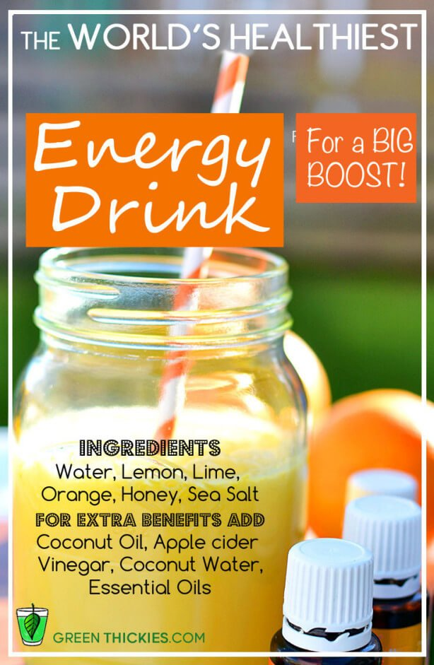 The world's healthiest energy drink for a big boost