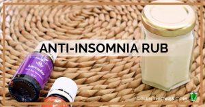 Anti Insomnia Rub recipe with Young Living essential oils