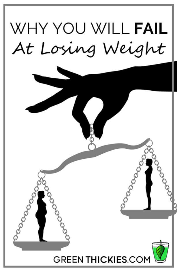Why you will FAIL at losing weight