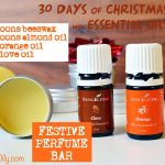 DAY 2: 30 DAYS OF CHRISTMAS GIFTS WITH ESSENTIAL OILS: Festive Perfume Bar