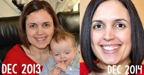 Before and After Young Living Katherine Kyle 2013 to 2014