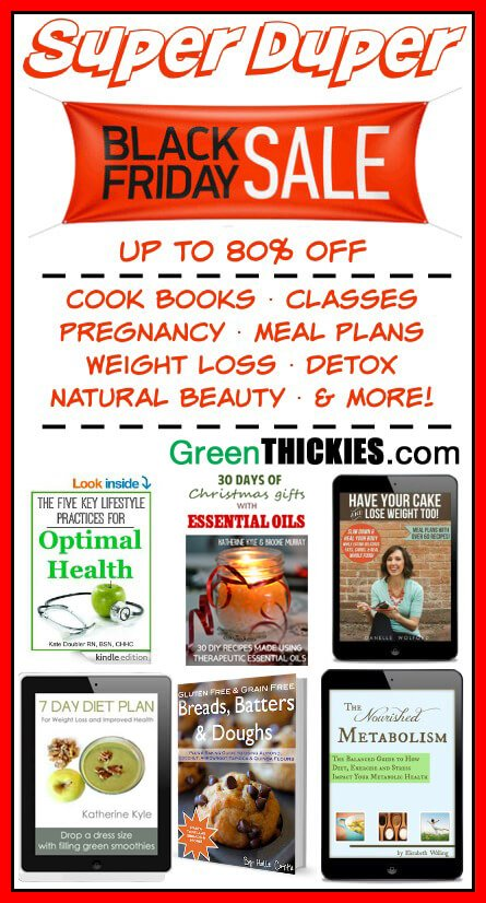 SAVE up to 80% OFF on Health, natural and weight loss books at Green Thickies, WOW!
