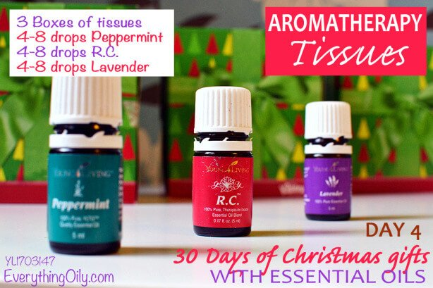 30 Days of Christmas Gifts with essential oils: Day 4 Aromatherapy Tissues