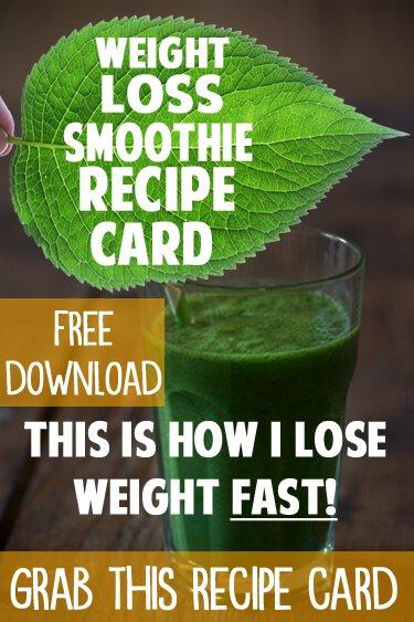 all natural weight loss shake recipes