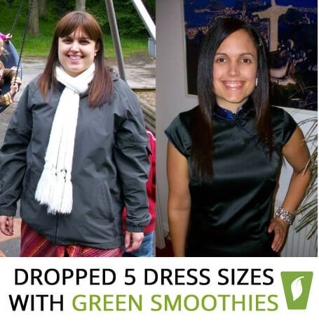 DROPPED 5 dress sizes with green smoothies